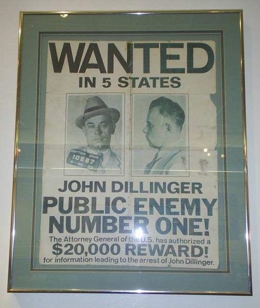 Wanted Posters: John Dillilnger